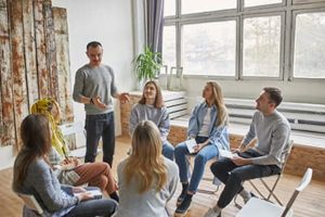group of people at dialectical behavior therapy